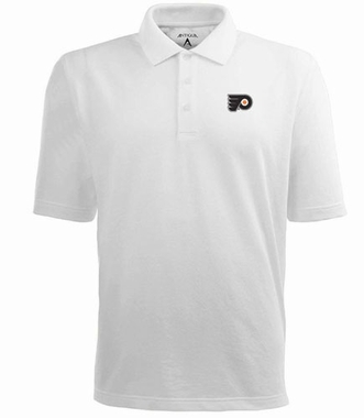 Philadelphia Flyers Mens Pique Xtra Lite Polo Shirt (Color: White)
