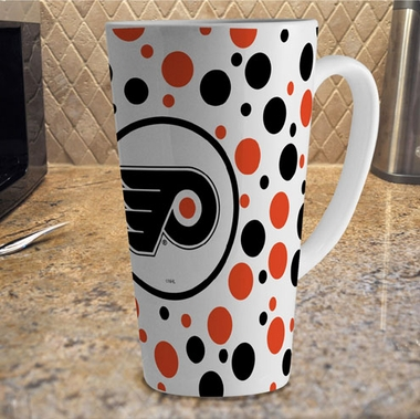 Philadelphia Flyers Polkadot 16 oz. Ceramic Latte Mug