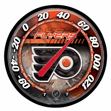 Philadelphia Flyers Round Wall Thermometer