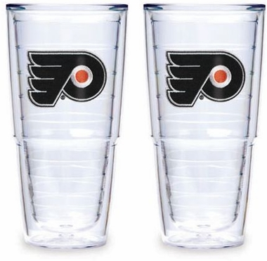 "Philadelphia Flyers Set of TWO 24 oz. ""Big T"" Tervis Tumblers"