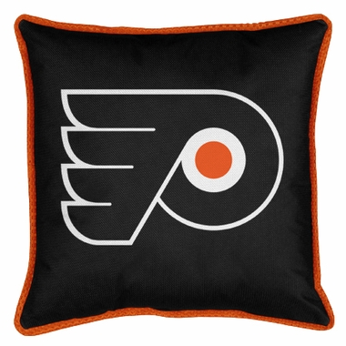 Philadelphia Flyers SIDELINES Jersey Material Toss Pillow