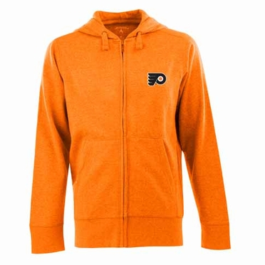 Philadelphia Flyers Mens Signature Full Zip Hooded Sweatshirt (Alternate Color: Orange)