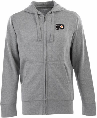 Philadelphia Flyers Mens Signature Full Zip Hooded Sweatshirt (Color: Gray)