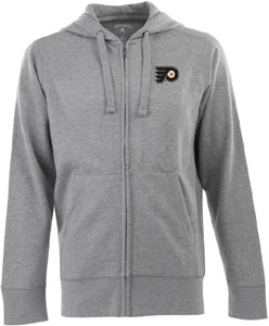 Philadelphia Flyers Mens Signature Full Zip Hooded Sweatshirt (Color: Gray) - Large