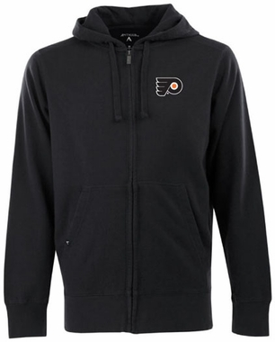 Philadelphia Flyers Mens Signature Full Zip Hooded Sweatshirt (Color: Black)