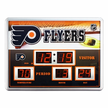 Philadelphia Flyers Time / Date / Temp. Scoreboard