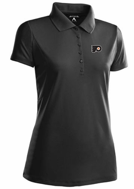Philadelphia Flyers Womens Pique Xtra Lite Polo Shirt (Team Color: Black)