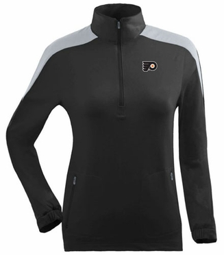 Philadelphia Flyers Womens Succeed 1/4 Zip Performance Pullover (Team Color: Black)