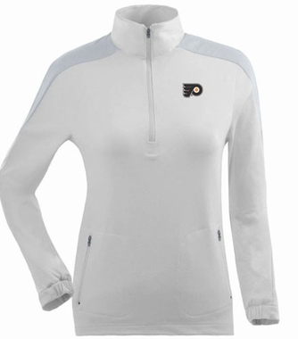 Philadelphia Flyers Womens Succeed 1/4 Zip Performance Pullover (Color: White)