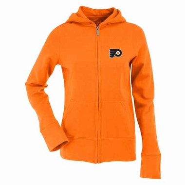 Philadelphia Flyers Womens Zip Front Hoody Sweatshirt (Alternate Color: Orange)
