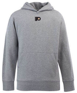 Philadelphia Flyers YOUTH Boys Signature Hooded Sweatshirt (Color: Gray)