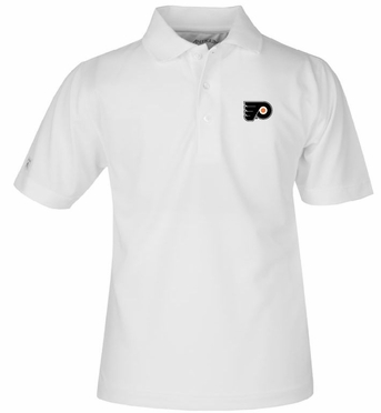 Philadelphia Flyers YOUTH Unisex Pique Polo Shirt (Color: White)