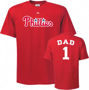 Philadelphia Phillies #1 Dad T-Shirt - Medium