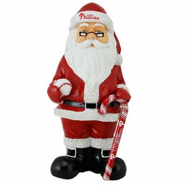 Philadelphia Phillies 11 Inch Resin Team Santa Figurine