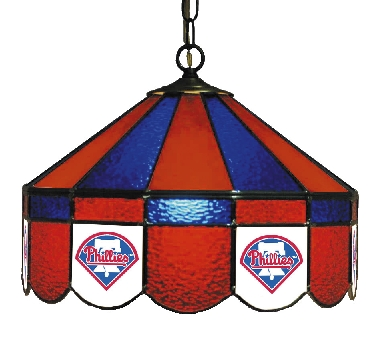 Philadelphia Phillies 16 Inch Diameter Stained Glass Pub Light