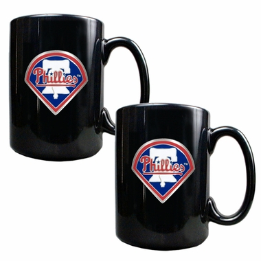 Philadelphia Phillies 2 Piece Coffee Mug Set