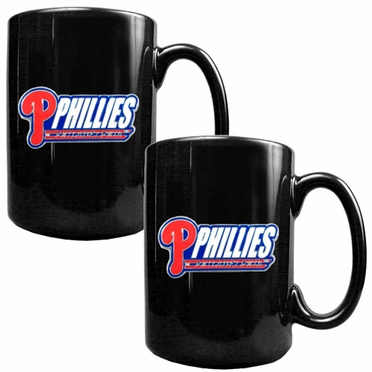 Philadelphia Phillies 2 Piece Coffee Mug Set (Wordmark)