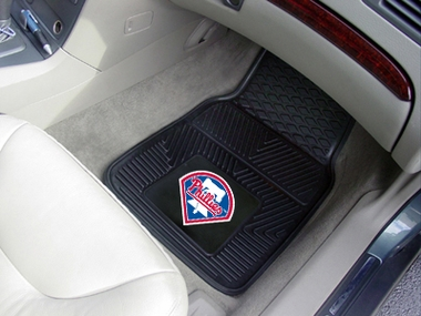 Philadelphia Phillies 2 Piece Heavy Duty Vinyl Car Mats