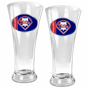 Philadelphia Phillies 2 Piece Pilsner Glass Set