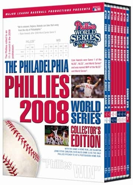 Philadelphia Phillies 2008 W. S. Champs Collector's Edition DVD Set