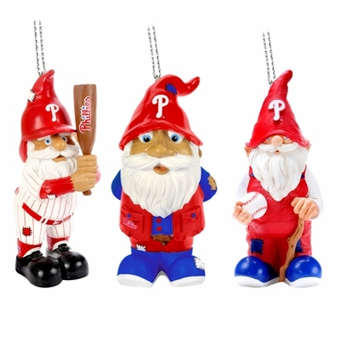 Philadelphia Phillies 2012 Gnome 3 Pack Ornament Set