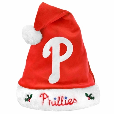 Philadelphia Phillies 2012 Team Logo Plush Santa Hat