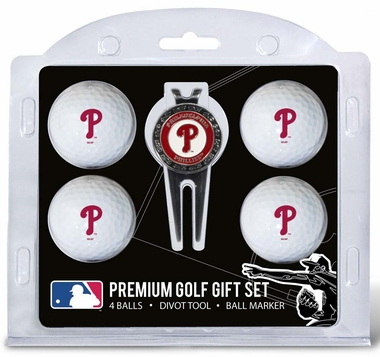 Philadelphia Phillies 4 Ball and Divot Tool Set
