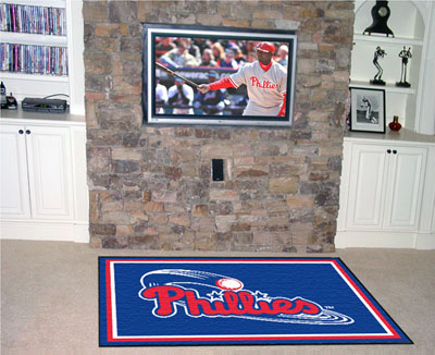 Philadelphia Phillies 4 Foot x 6 Foot Rug