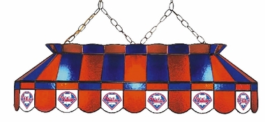 Philadelphia Phillies 40 Inch Rectangular Stained Glass Billiard Light