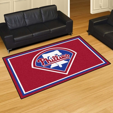 Philadelphia Phillies 5 Foot x 8 Foot Rug