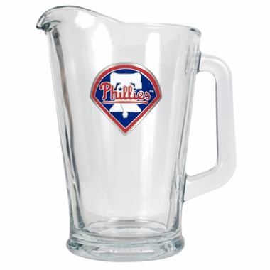 Philadelphia Phillies 60 oz Glass Pitcher