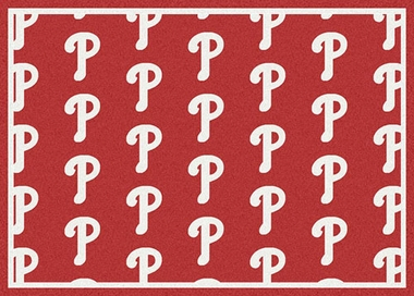 "Philadelphia Phillies 7'8 x 10'9"" Premium Pattern Rug"
