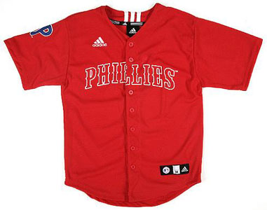 Philadelphia Phillies Adidas Youth Replica Jersey - Medium