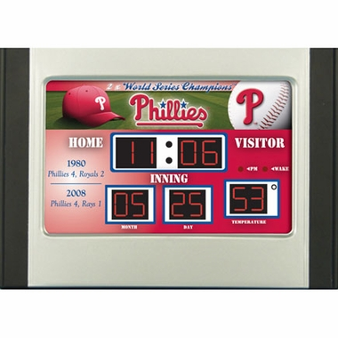 Philadelphia Phillies Alarm Clock Desk Scoreboard