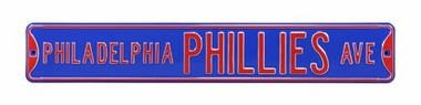 Philadelphia Phillies Ave Blue Street Sign