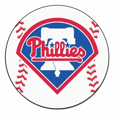 Philadelphia Phillies Baseball Shaped Rug