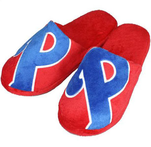 Philadelphia Phillies Big Logo Hard Sole Slippers - Large