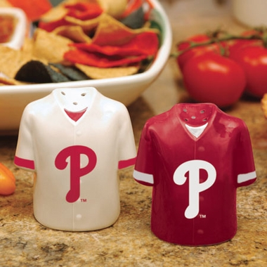 Philadelphia Phillies Ceramic Jersey Salt and Pepper Shakers