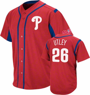 Philadelphia Phillies Chase Utley Wind Up Jersey