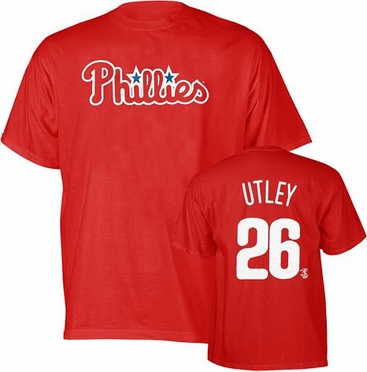 Philadelphia Phillies Chase Utley YOUTH Name and Number T-Shirt