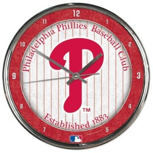 Philadelphia Phillies Round Chrome Wall Clock