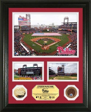 "Philadelphia Phillies Citizens Bank Park Infield Dirt Coin ""Showcase"" Photo Mint"
