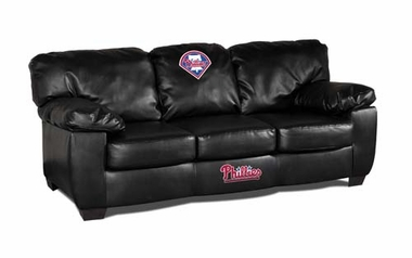 Philadelphia Phillies Leather Classic Sofa