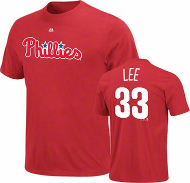 Philadelphia Phillies Cliff Lee Name and Number T-Shirt