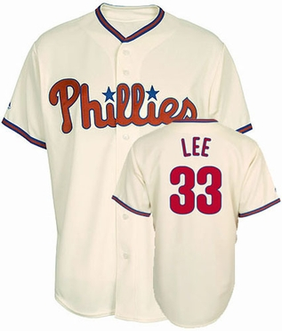 Philadelphia Phillies Cliff Lee Replica Player Jersey (Alternate)