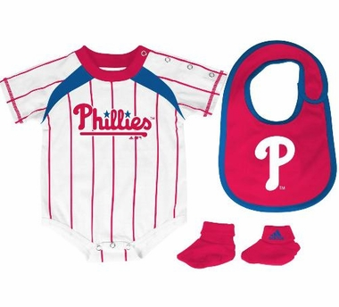 Philadelphia Phillies Creeper Bib and Bootie Set