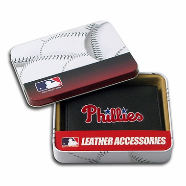 Philadelphia Phillies Embroidered Leather Tri-Fold Wallet
