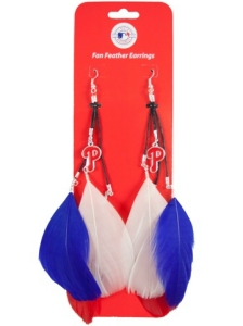 Philadelphia Phillies Feather Earrings
