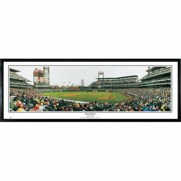 Philadelphia Phillies First Pitch Framed Panoramic Print