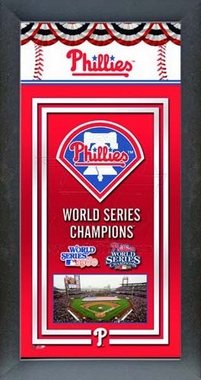 Philadelphia Phillies Framed Championship Banner